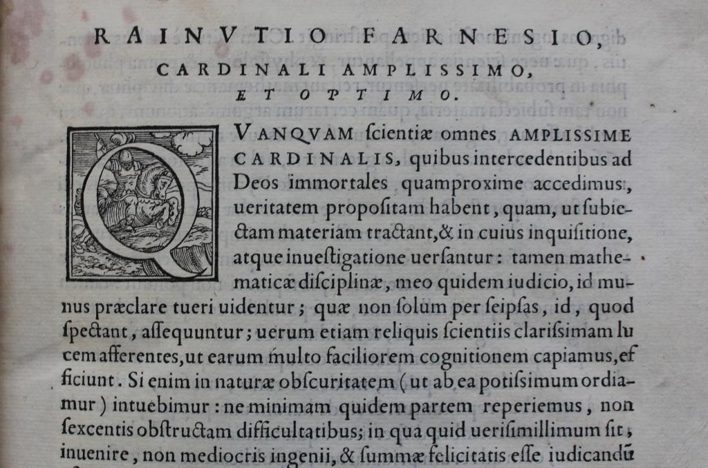Archimedes 1558 dedication to Farnese