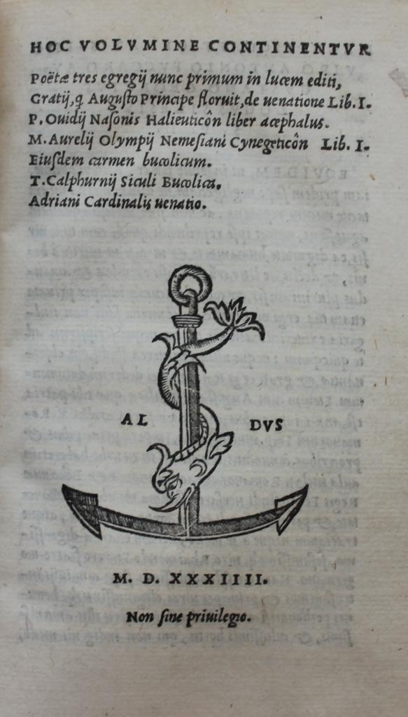 Grattius 1534 title-page.