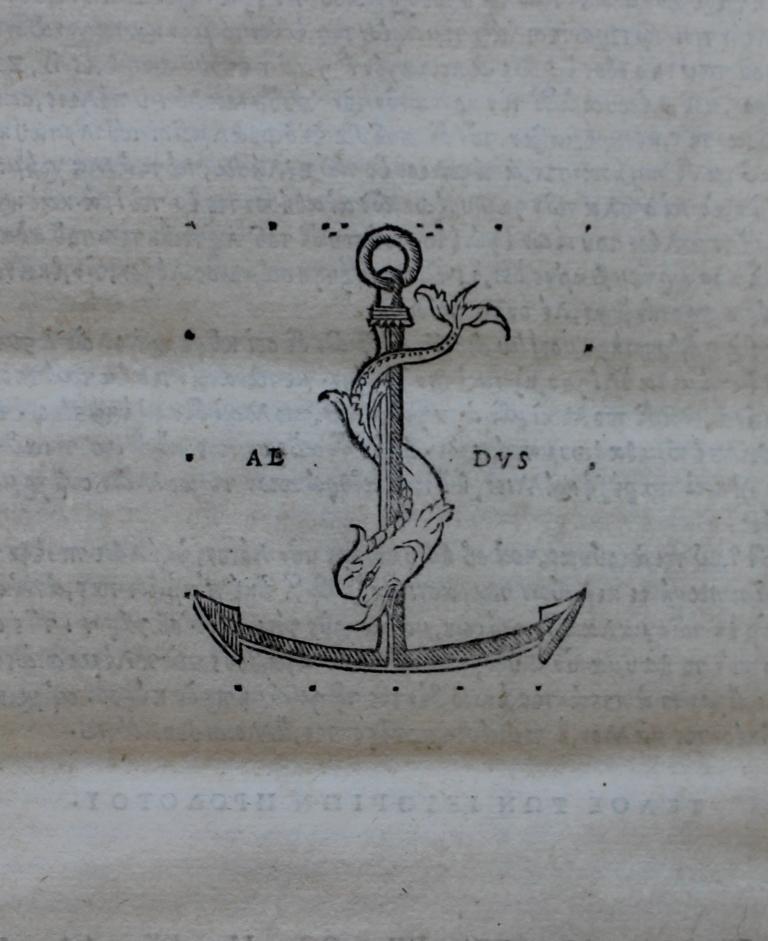 Herodotus 1502 Aldine device on final folio.