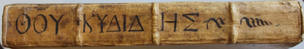 Thucydides 1502 no. 1 spine